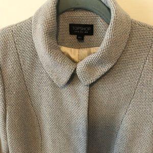 Topshop wool dress coat